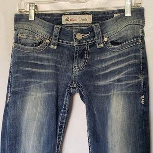 BKE Stella Skinny Stretch Darkwash Faded Jeans 26R